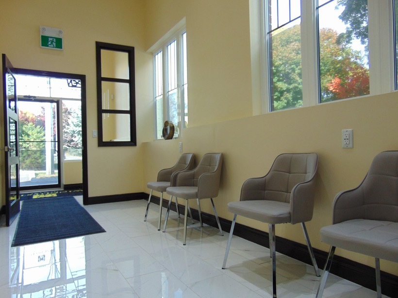 Waiting Room Inside Winchester Dental Office in Brooklin Ontario
