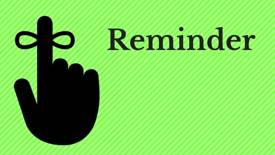 reminder string on finger